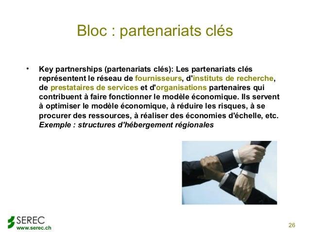www.serec.chBloc : partenariats clés• Key partnerships (partenariats clés): Les partenariats clésreprésentent le réseau de...