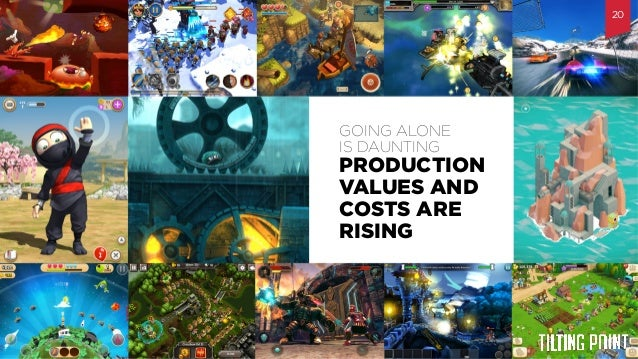 Til$ng  Point  Confiden$al   PRODUCTION VALUES AND COSTS ARE RISING GOING ALONE IS DAUNTING 20