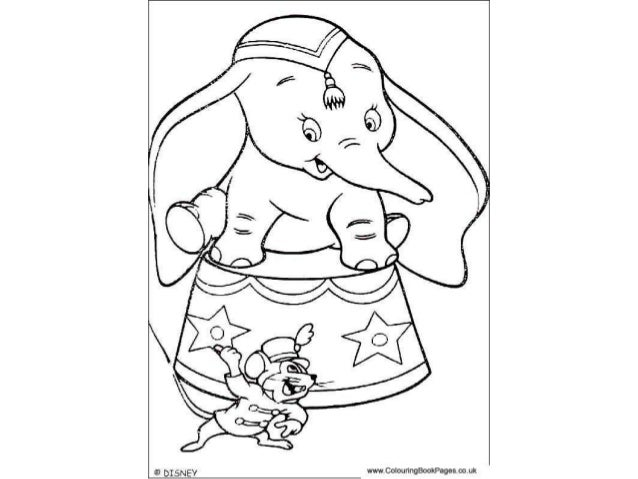 Dumbo Colouring Pages and Kids Colouring Activities