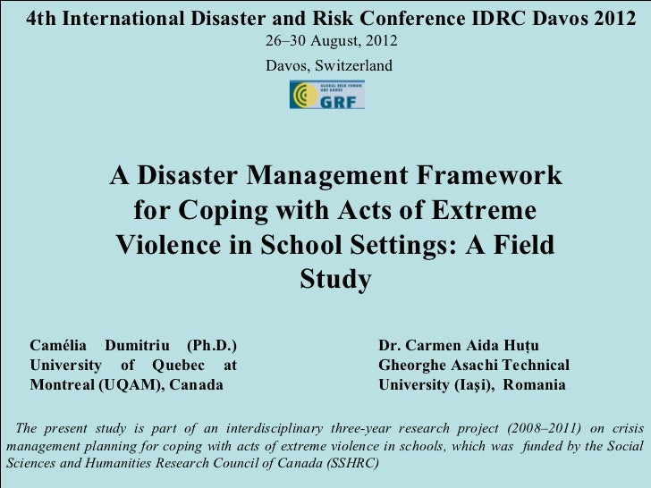 4th International Disaster and Risk Conference IDRC Davos 2012                                         26–30 August, 2012 ...