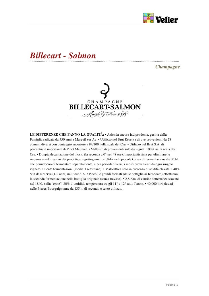 Billecart - Salmon                                                                                           Champagne    ...