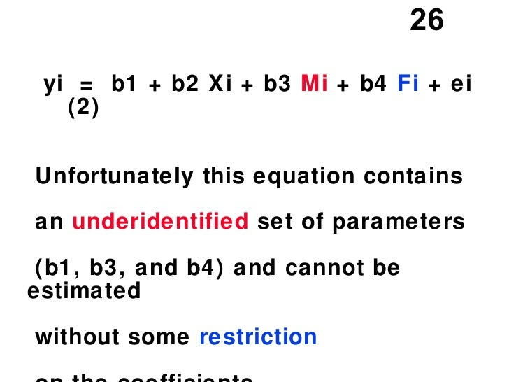Dummy Variable: Dummy Variable Equation
