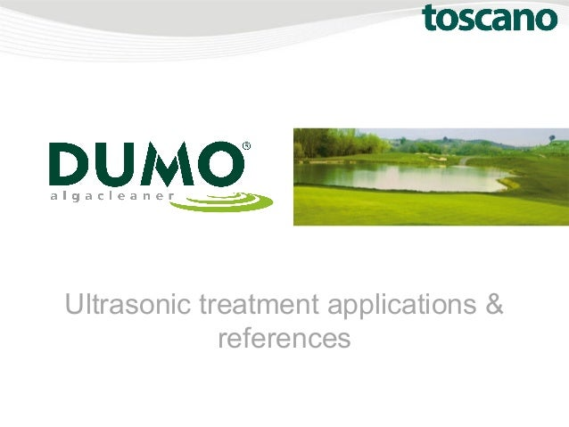 Ultrasonic treatment applications & references
