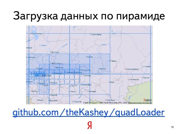 Загрузка данных по пирамидеgithub.com/theKashey/quadLoader                                  16