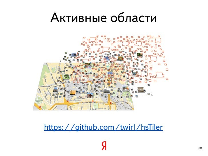 Активные областиhttps://github.com/twirl/hsTiler                                   20