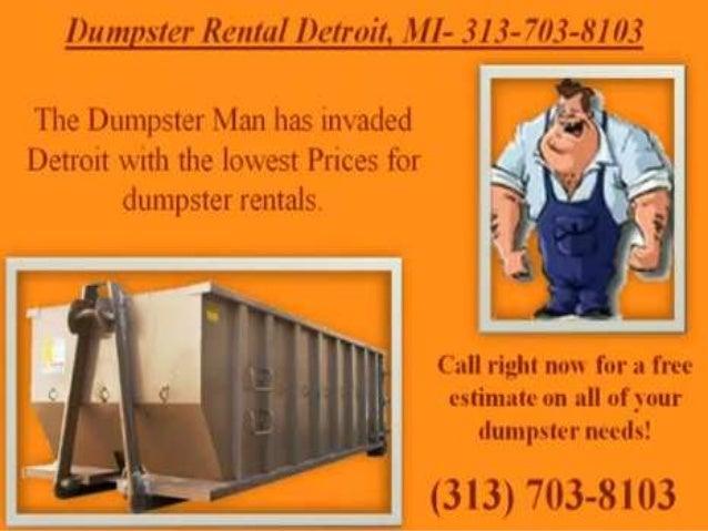 Dumpster rental detroit 313 703-8103