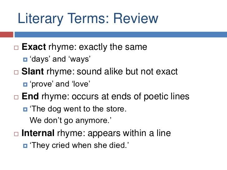 Poetry Vocabulary Flashcards - Cram.com