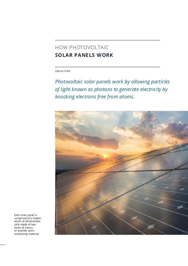 How Photovoltaic Solar Panels Work Slide 2