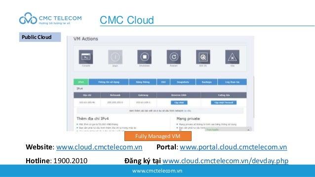 www.cmctelecom.vn CMC Cloud Public Cloud Fully Managed VM Website: www.cloud.cmctelecom.vn Portal: www.portal.cloud.cmctel...