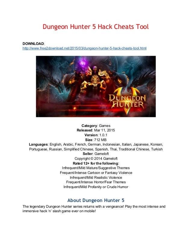 Dungeon hunter-5-hack-cheats-tool