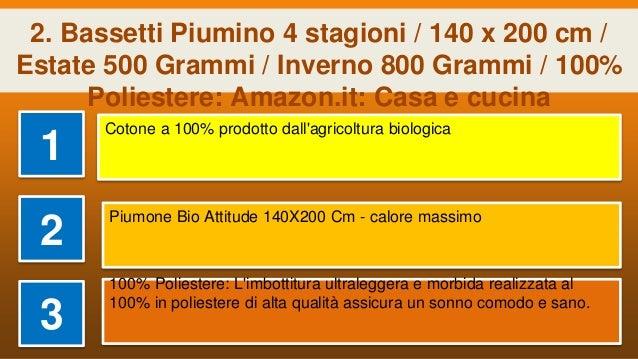 Abeil 15000000528 piumone singolo  Bio Attitude cotone bianco 200 x 140 cm