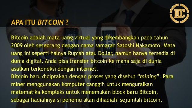 Apa Maksud Bitcoin