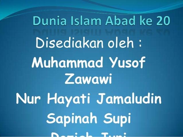 Disediakan oleh :  Muhammad Yusof      ZawawiNur Hayati Jamaludin    Sapinah Supi