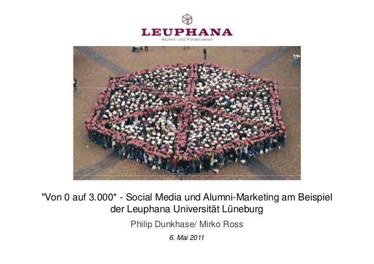 """""""Von 0 auf 3.000* - Social Media und Alumni-Marketing am Beispiel               der Leuphana Universität Lüneburg         ..."""