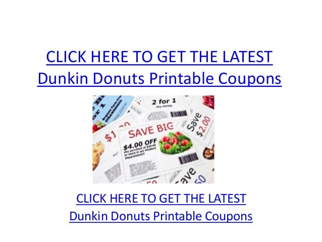 picture about Printable Dunkin Donuts Coupons identify Dunkin Donuts Printable Discount codes - Dunkin Donuts Printable