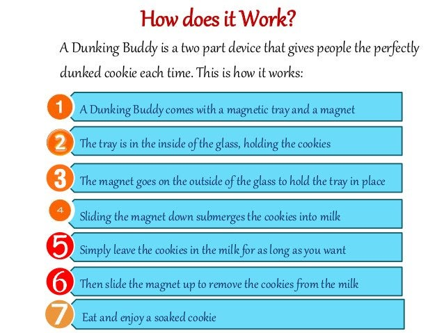 How does it Work?  A Dunking Buddy is a two part device that gives people the perfectly  dunked cookie each time. This is ...