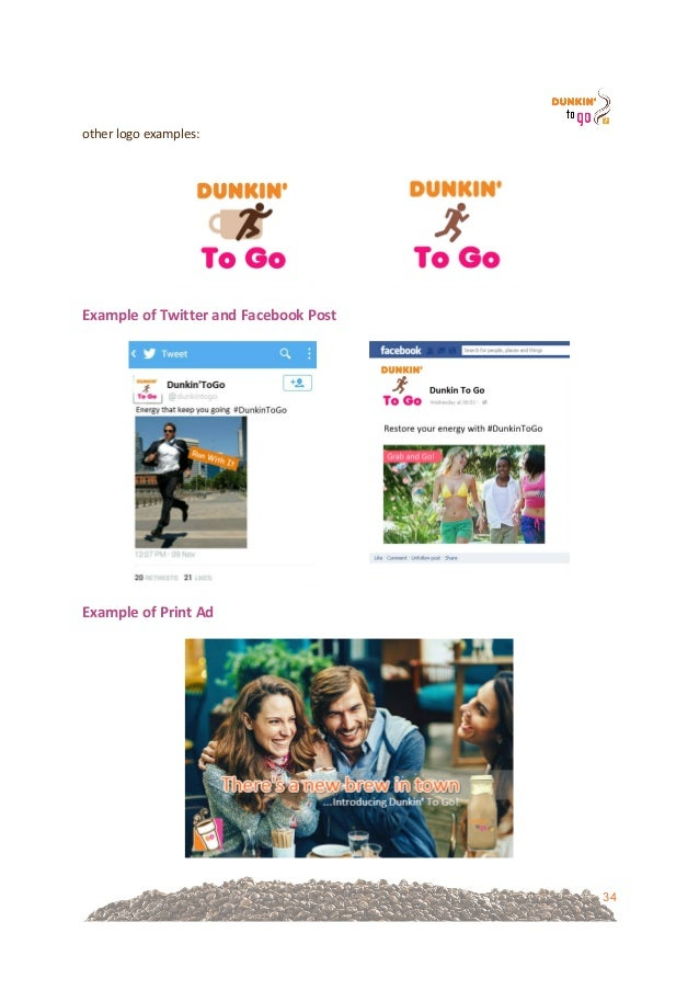 dunkin donuts marketing plan Dunkin' brands announced plans to add approximately 1,000 net new  key to  increasing dunkin' donuts' share of market and comparable.