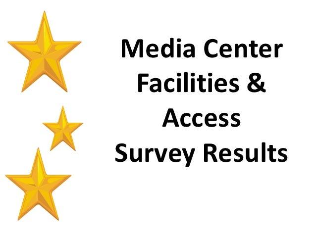 Media Center  Facilities &    AccessSurvey Results