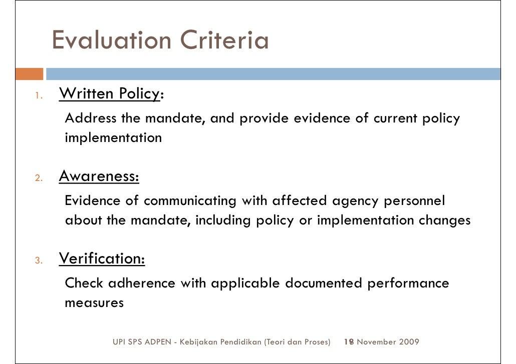 how to develop evaluation criteria