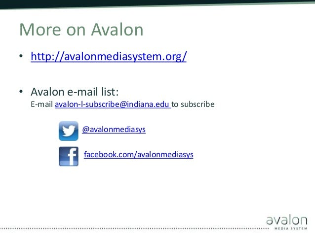 The Avalon Media System: Open Source Audio and Video Access