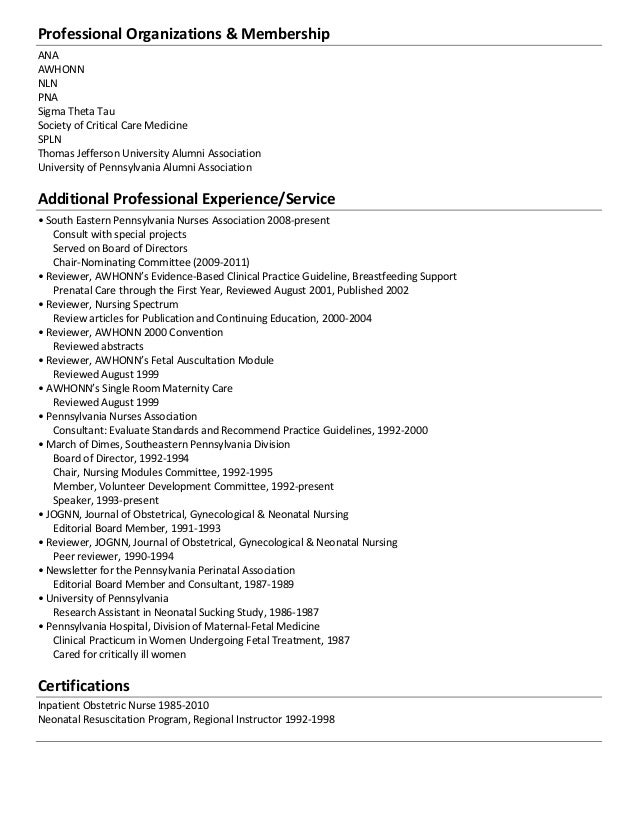 Professional Affiliations On Resumes Engneforic
