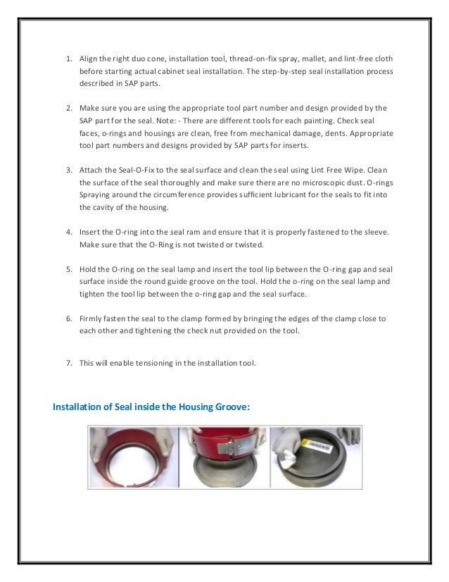 Duo Cone Seals Assembly Guide – SAP Parts