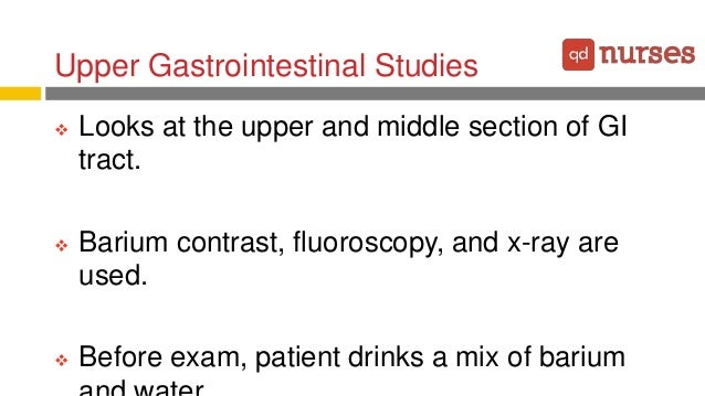 Barium sulfate and the gastrointestinal tract essay