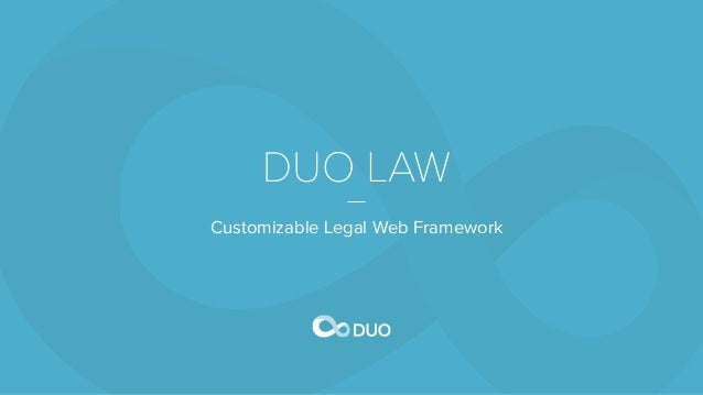 DUO LAW Customizable Legal Web Framework