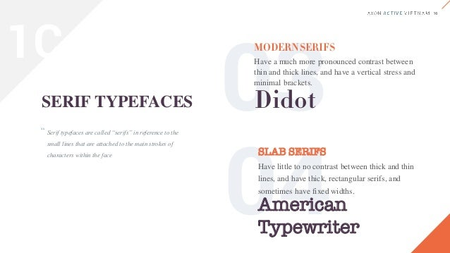 Sans-serif typefaces are called such because they lack serif details on characters. Sans-serif typefaces are often more mo...