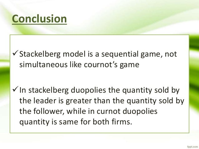 how to solve stackelberg duopoly