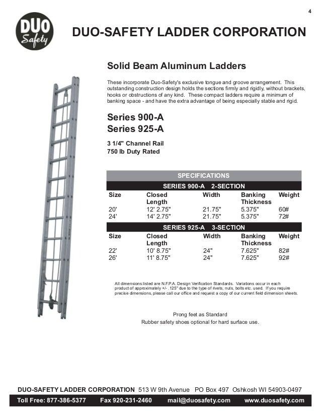 Extension Ladder Width Best Ladder 2018