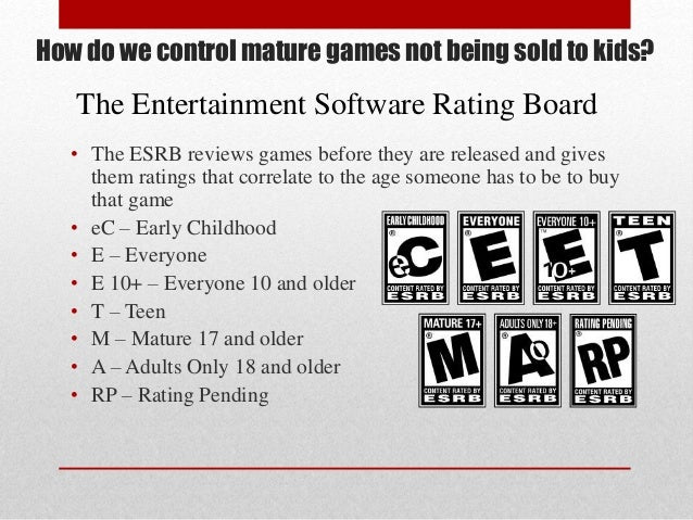 do video games cause violence 4 how do we control mature games