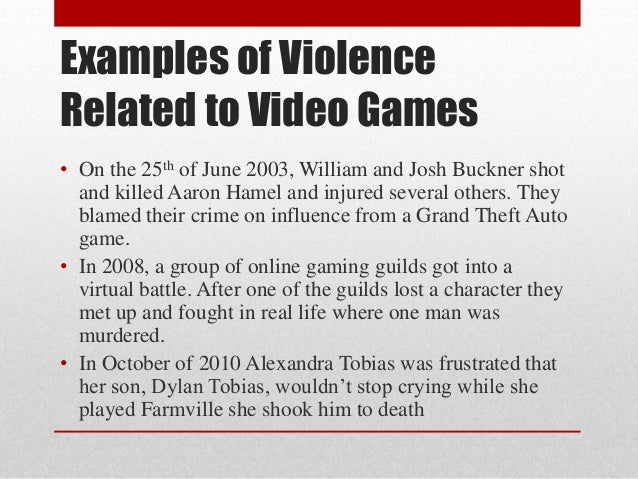 violent video games shouldn essay Although no single factor can cause a nonviolent person to act aggressively, some studies suggest that heavy exposure to violent movies, video games, and other media can be a risk factor for violent behavior.