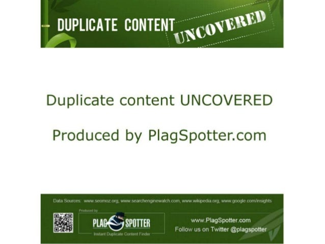Duplicate Content UNCOVERED [infographic]