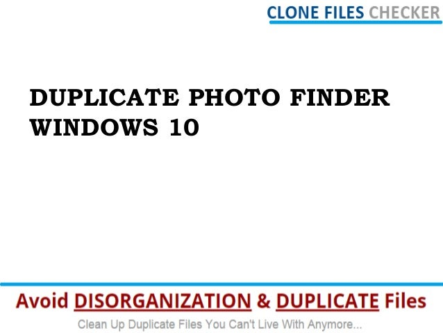 Find Duplicate Pictures For