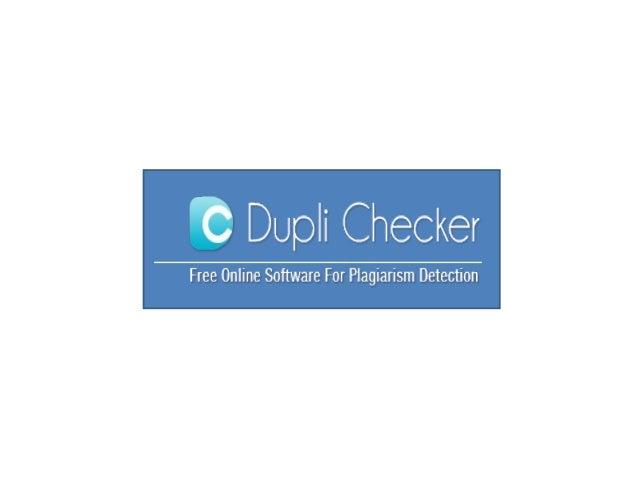 http://www.duplichecker.com/ Dupli Checker - Register