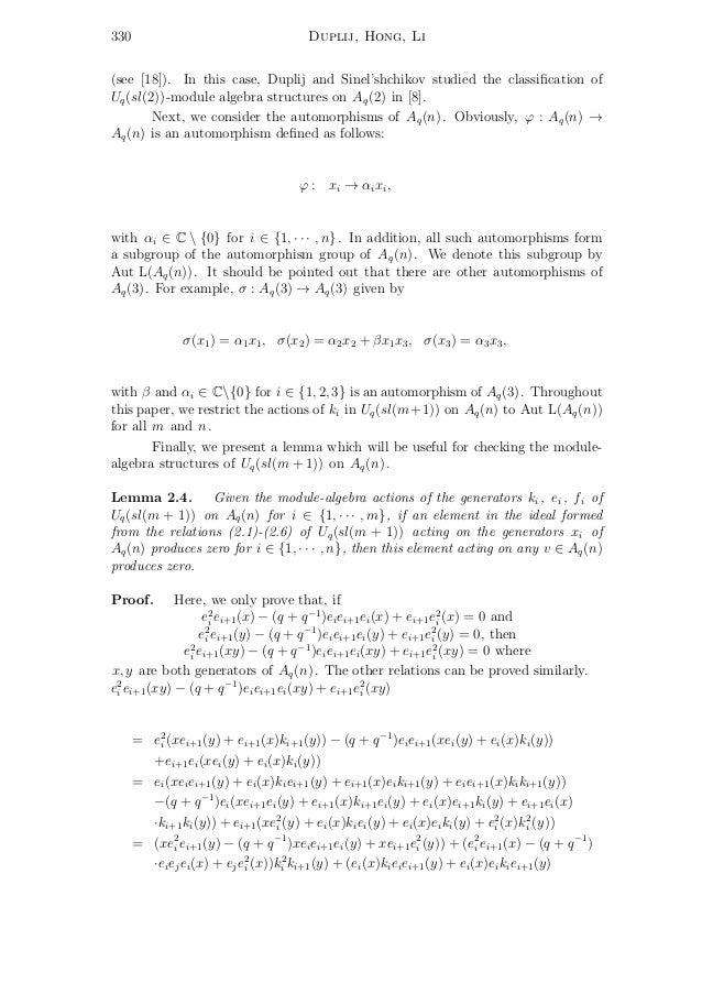 S. Duplij, Y. Hong, F. Li. Uq(sl(m+1))-module algebra structures on t…