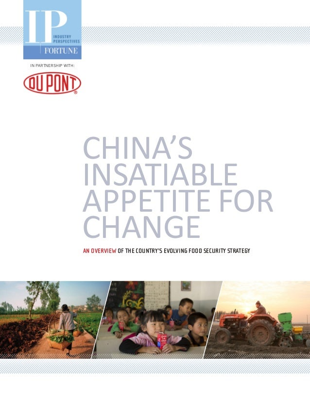 IN PARTNERSHIP WITH:                       CHINA'S                       INSATIABLE                       APPETITE FOR    ...