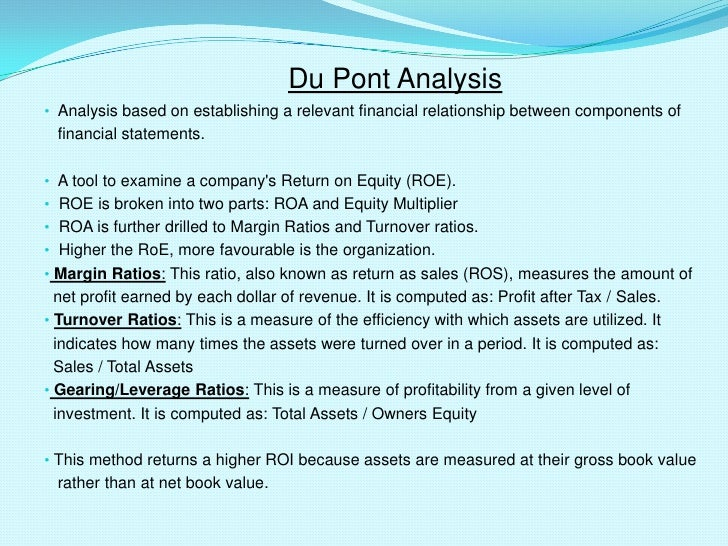 dupont case analysis As in the case of net profitability a dupont study is not a replacement for detailed financial analysis with the dupont ratio: a useful.