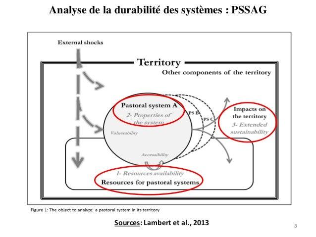 Analyse de la durabilité des systèmes : PSSAG 8Sources: Lambert et al., 2013