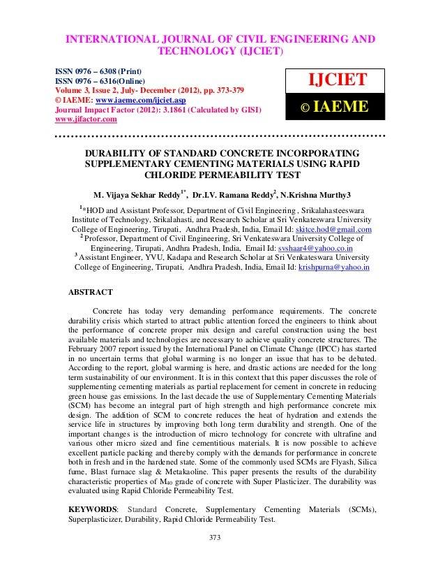 INTERNATIONAL JOURNAL OF CIVIL ENGINEERING AND   International Journal of Civil Engineering and Technology (IJCIET), ISSN ...