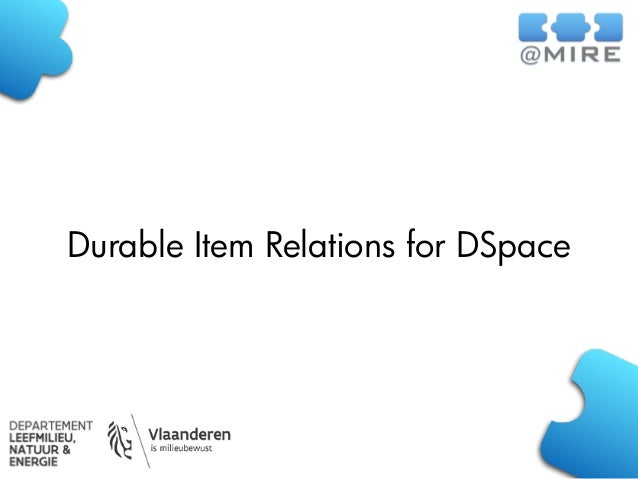 Durable Item Relations for DSpace