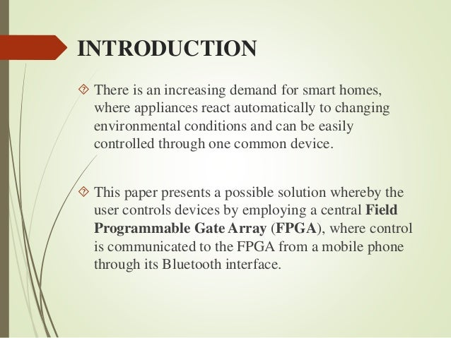 Smart house project report