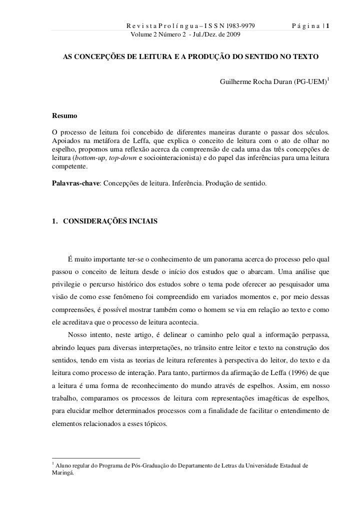 R e v i s t a P r o l í n g u a – I S S N 1983-9979           Página |1                             Volume 2 Número 2 - Ju...