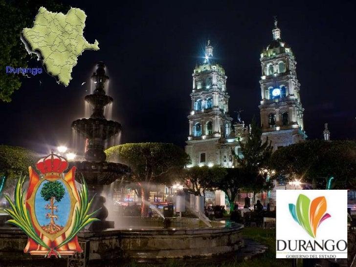 La superficie del estado de Durango es  de 123,181 m2, lo que representa el  6.3% de la superficie total del país.Limita a...