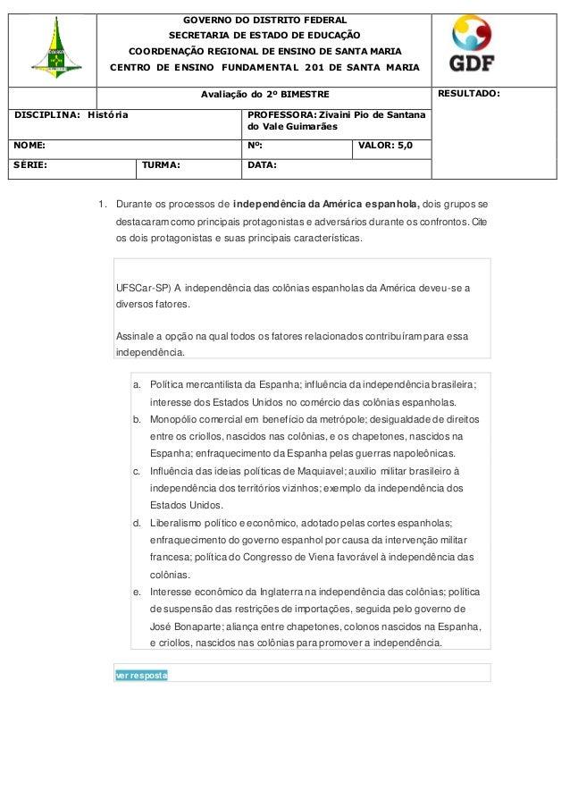 GOVERNO DO DISTRITO FEDERAL SECRETARIA DE ESTADO DE EDUCAÇÃO COORDENAÇÃO REGIONAL DE ENSINO DE SANTA MARIA CENTRO DE ENSIN...
