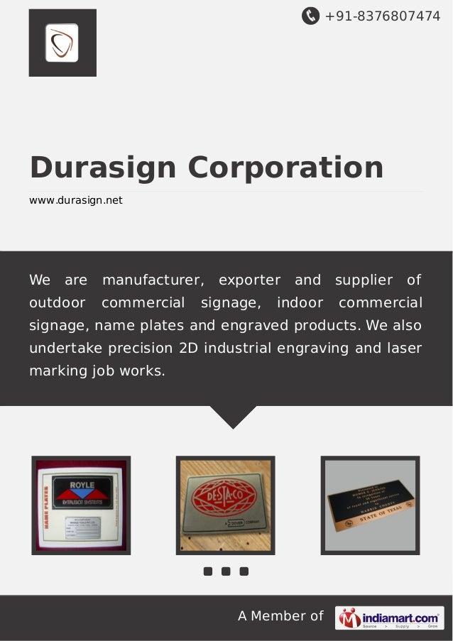 Durasign Corporation - Importer | India | Import Genius