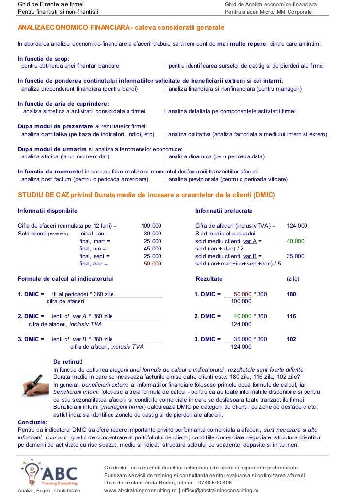 Ghid de Finante ale firmei                                                               Ghid de Analiza economico-financi...