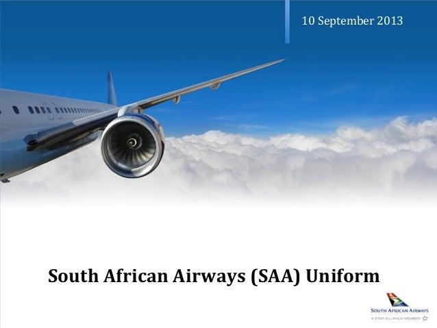 South African Airways (SAA) Uniform 10 September 2013