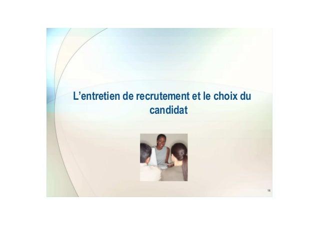 du recrutement au contrat de travail